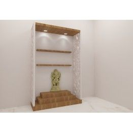 Beautifully Crafted Puja Unit Having Fashionable Look With Great Design.  Made Up Of Plywood With