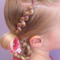 Cute site for more toddler hair.Kids Hair, Hair Ideas, Little Girls, Rubberband, Rubber Bands, Girls Hairstyles, Hair Style, Band Wraps, Cute Hairstyles