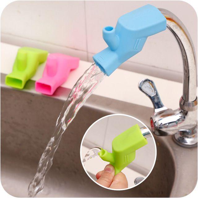 新しいシリコーン蛇口エクステンダー幼児子供を助ける到達蛇口子洗浄手ヘルパーシュート水dutter浴室蛇口accessorie