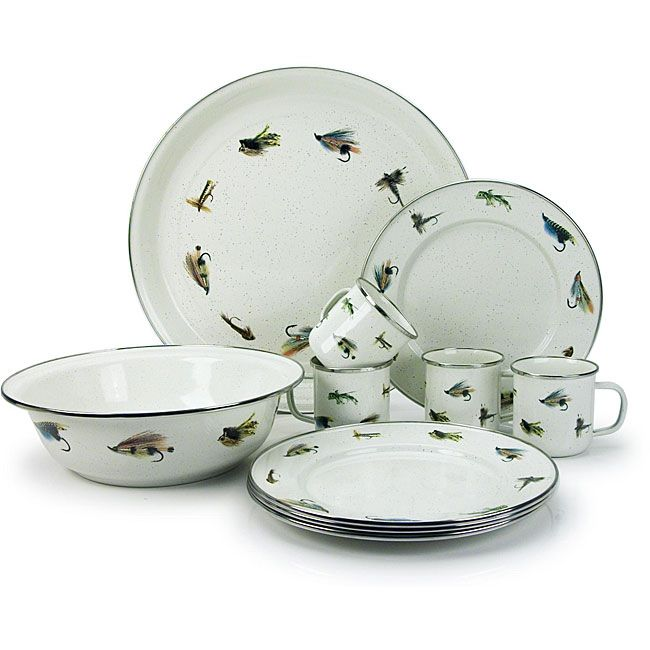 U003cliu003eEnamelware Dining Set Is Made Of Carbon Steel Coated With Glass Enamel  And
