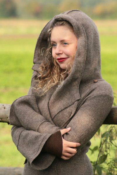 Abrigos largos - beautiful coat pure wool - hecho a mano por basia-kollek en DaWanda