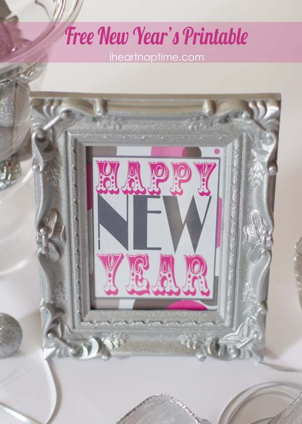 Free happy new year printable from iheartnaptime.com #newyears