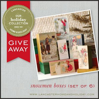 Live Now!  Win Snowboxes from Lancaster Home and Holiday