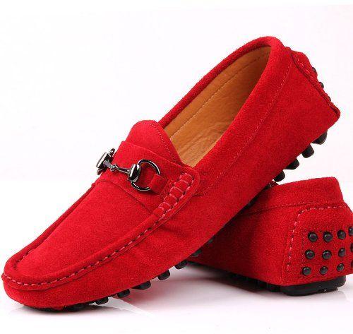 Fulinken Genuine Mens Leather Slip-on Loafers Red Driving Shoes Buckle Loafer - http://shoes.goshopinterest.com/mens/loafers-mens/fulinken-genuine-mens-leather-slip-on-loafers-red-driving-shoes-buckle-loafer/