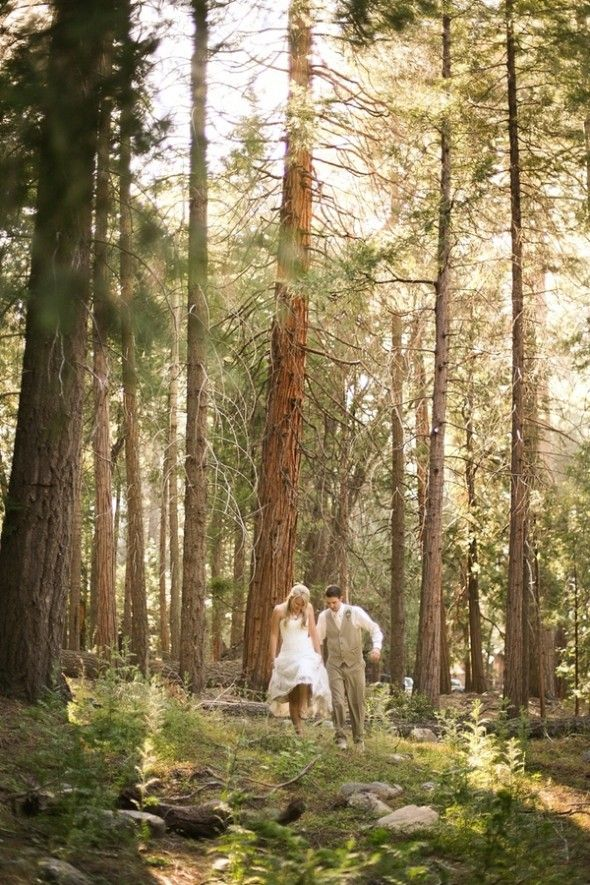 Woodsy Rustic Wedding Couple #wedding #style #inspiration