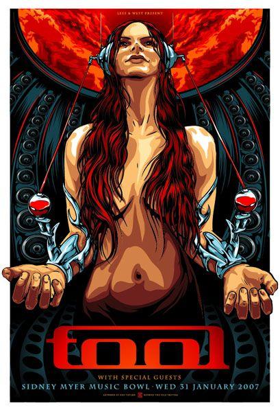 TOOL. Design Inspiration: Concert Posters. #gigposters #musicart http://www.pinterest.com/TheHitman14/music-poster-art-%2B/