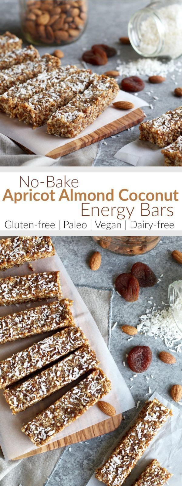 No Bake Apricot Almond Coconut Energy Bars   The Real Food Dietitians