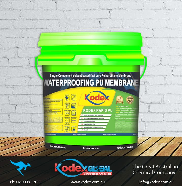 Leaking balconies or terraces with tiles? Get an excellent crack bridging membrane from Kodex called Kodex Rapid PU. It comes in ready to use pack and provide high resistance to stagnant water. Don't delay, cure it before it gets worse. To know more click: http://www.kodex.com.au/wp-content/uploads/2015/02/Kodex-Rapid-PU.pdf  #Waterproofing #TilesWaterproofing #WaterproofingMembrane #WaterproofingSolutions #WaterproofingProducts