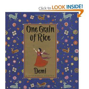 This is a mathematical folktale- looks great! This book can be used to teach doubling patterns, multiplication, place value, and can be linked to social justice math!