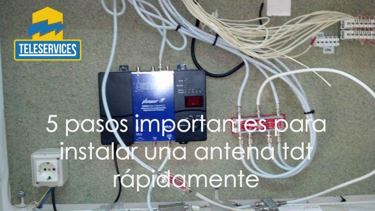5 Pasos Importantes para Instalar una Antena TDT y poder ver la TV - http://teleservicesmultiservicios.com/instalar-una-antena-tdt/