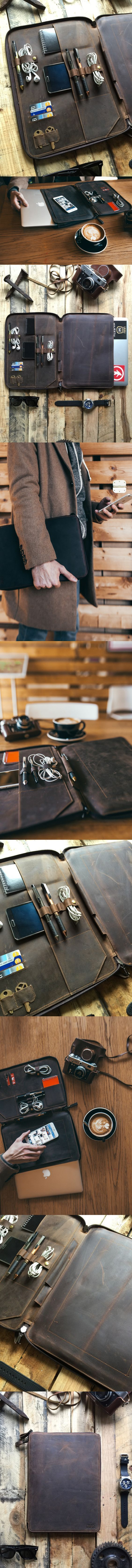 Perfect Leather MacBook Organizer Portfolio.