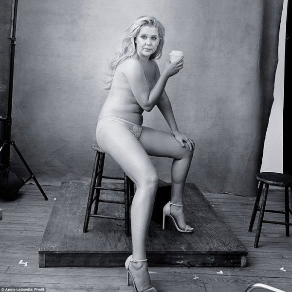 "Amy Schumer and Serena Williams had a major moment posing for the Pirelli calendar. But they're not the first celebs to show off their ""real"" bodies."