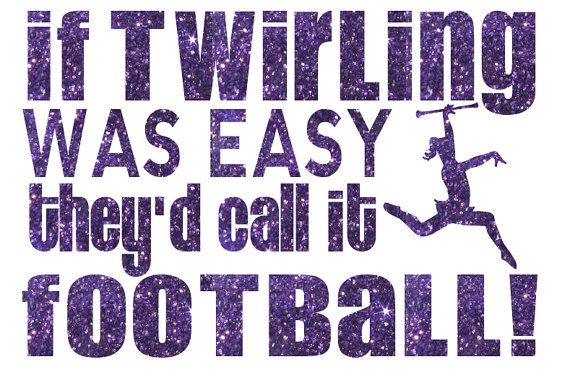 If Twirling was Easy Football Iron On Decal