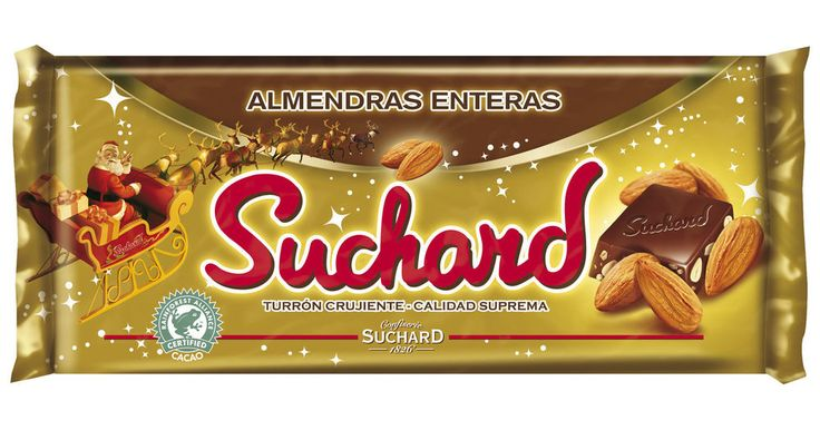 whole almonds suchard chocolate crunchy tourron nougat christmas candy gift 260g from $7.45