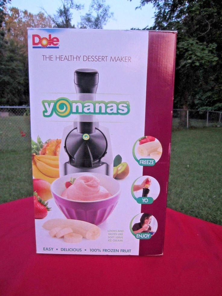 DOLE YONANAS HEALTHY SOFTSERVE DESSERT MAKER 901~YUMMY FROZEN FRUIT TREATS~NEW! #DoleYonanas