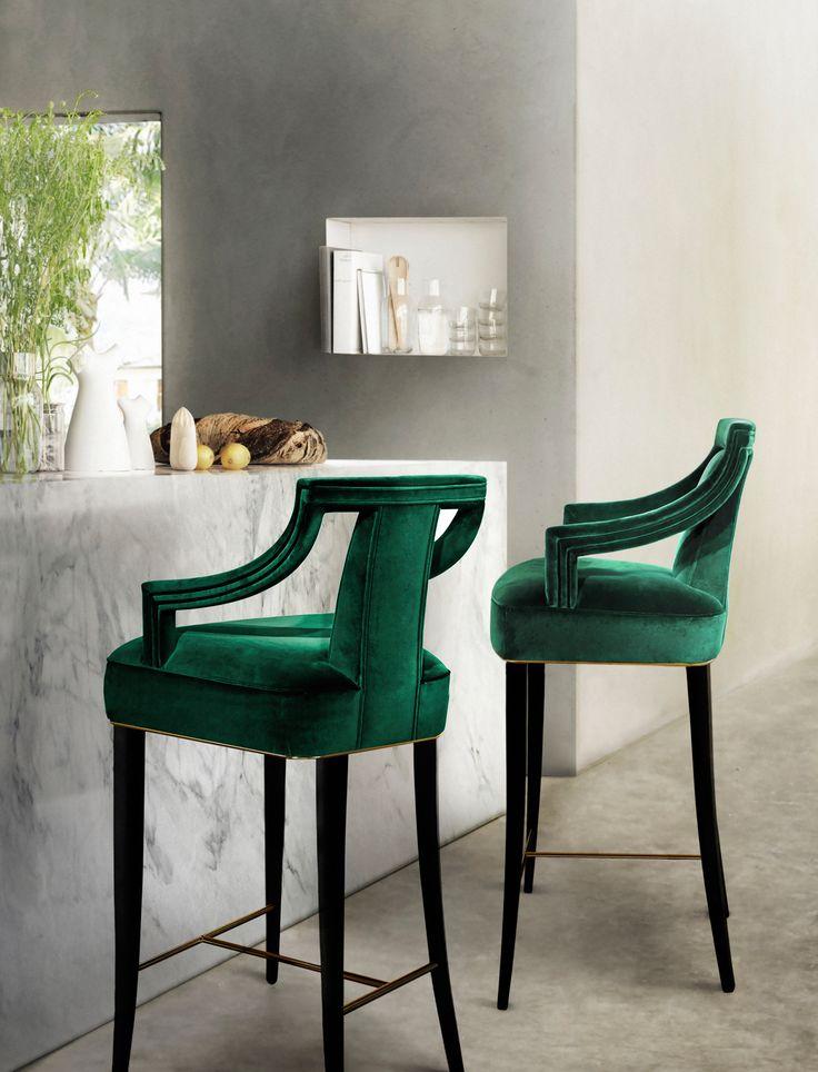 MALAY Bar Chair Mid Century Design By BRABBU Is A Velvet Stool With Mystical