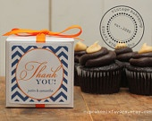 12 - Preppy Wedding Favor Cupcake Mixes - Preppy Label - Any COLOR - Modern Bridal Shower Favor, Baby Shower Favor, Wedding Favor. $40.00, via Etsy.