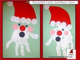 Learn and Grow Designs: Handprint Christmas Ornaments, Handprint Santa Card, Polar Express Bracelet, and More Fun Kids Christmas Crafts