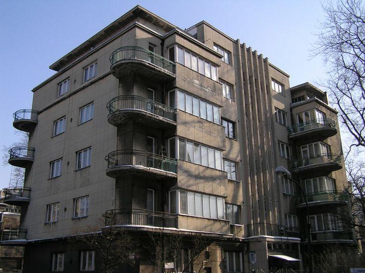 Kamienica Jakuba Lando in Lodz at Plac Komuny Paryskiej 3, 1936-1938, project by Paweł Lewy