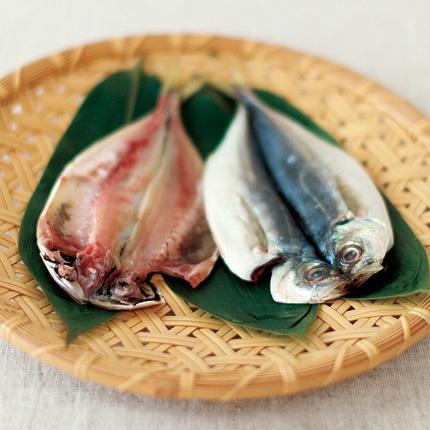 dried fish - あじのひもの