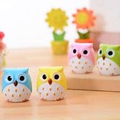 Owl Shaped Double Holes Pencil Sharpener(Rand... – AUD $ 2.46