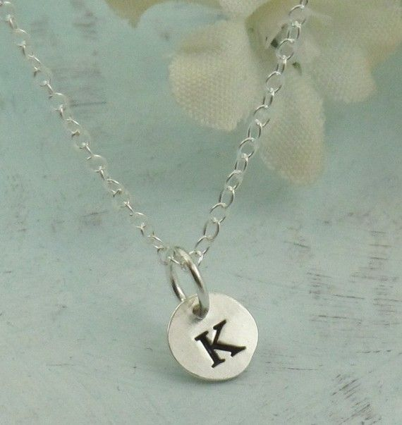 Letter Charm Necklace  custom made initial by KathrynRiechert, $20.00