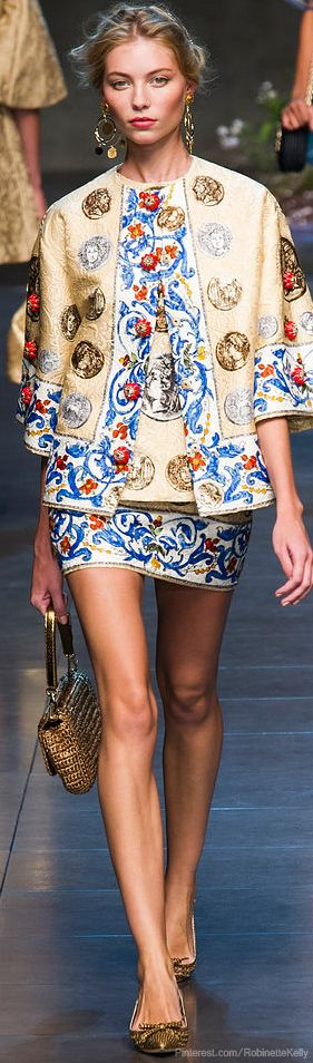 I love these pieces worn separately, but it's overwhelming to me together... Dolce & Gabbana | S/S 2014 RTW
