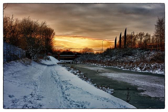 Sunset over the Cut, Wyrley & Essington Canal