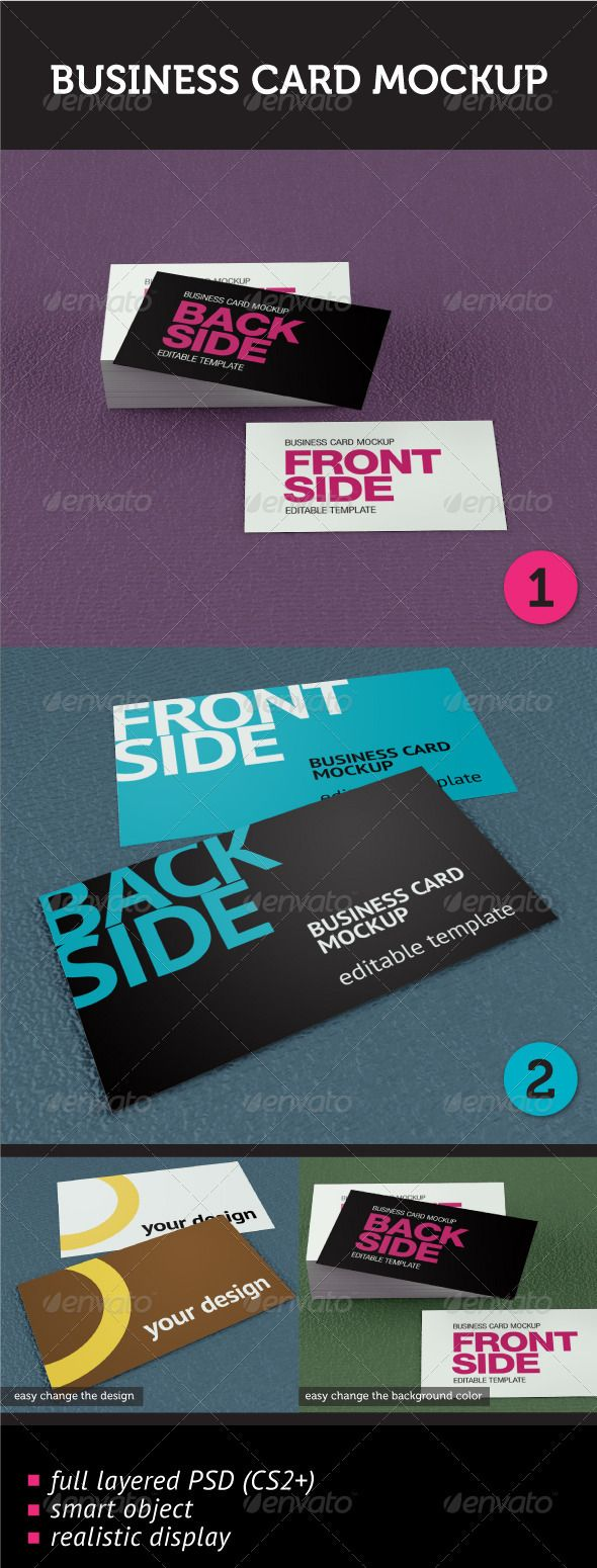 718 best business card mockup images on pinterest miniatures business card mockup photoshop psd presentation name card available here https reheart Images