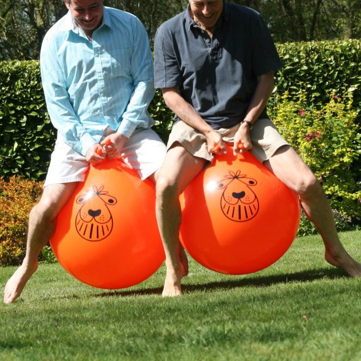 Retro fun!  The Space Hopper first came to the United Kingdom in the late 60s and is enjoying a resurgence in popularity - brilliant fun (and great exercise) for all ages  This heavy duty rubber balloon measures approx 60-70cm in diameter with two handles protruding from the top when inflated  A valve allows the hopper to be inflated (foot pump included)