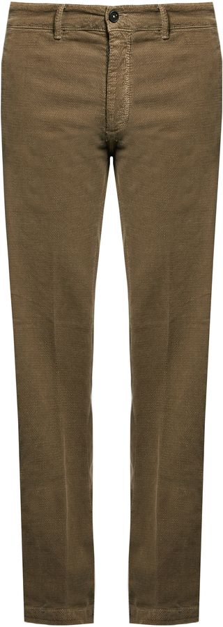 MASSIMO ALBA Mid-rise slim-leg stretch-cotton trousers