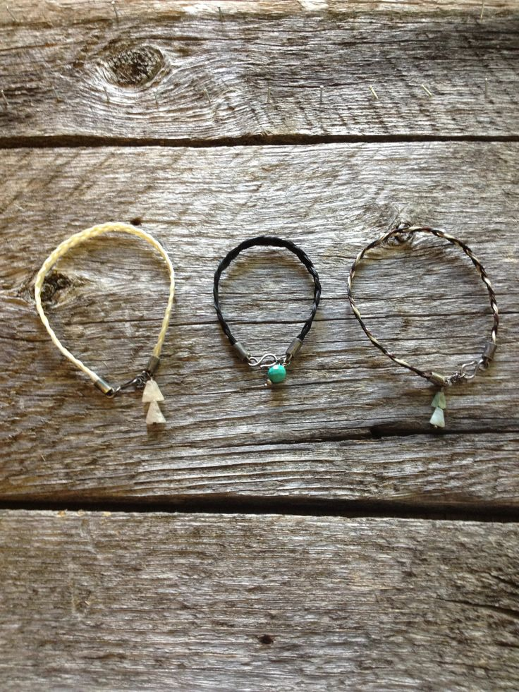 #horsehair and #sterling #bracelets #jenneajewelry