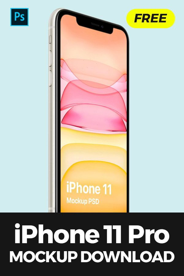 Download A Premium Quality Isometric Iphone 11 Psd Mockup On Clean Background Screen And Background Are Editable With Ease With T Iphone 11 Mockup Free Download Iphone