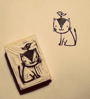 hand carved stamp