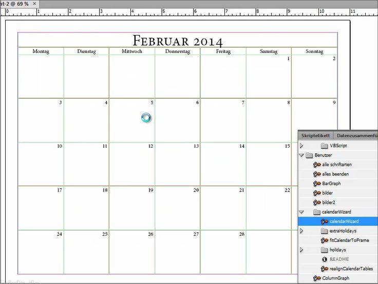 calendar wizard kalender in indesign erstellen + bearbeiten