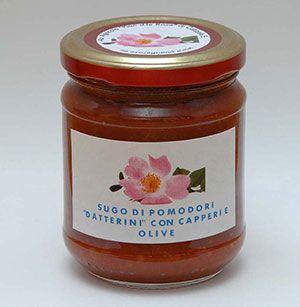 """Az. Agr. Pian d´le rose - Sugo di pomodori """"Datterini"""" con capperi e olive"""