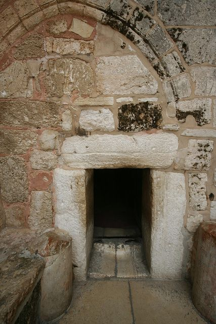 Church of the Nativity, Bethlehem, Israel.  Yes, the door is that tiny to keep people from coming in on their animals.