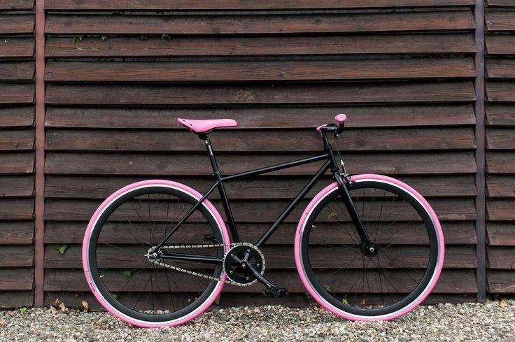 """WOO HOO BIKES - PINK 17,5"""" - Fixed Gear Bicycle, Fixie, One Gear, Track Bike #WooHooBikes"""