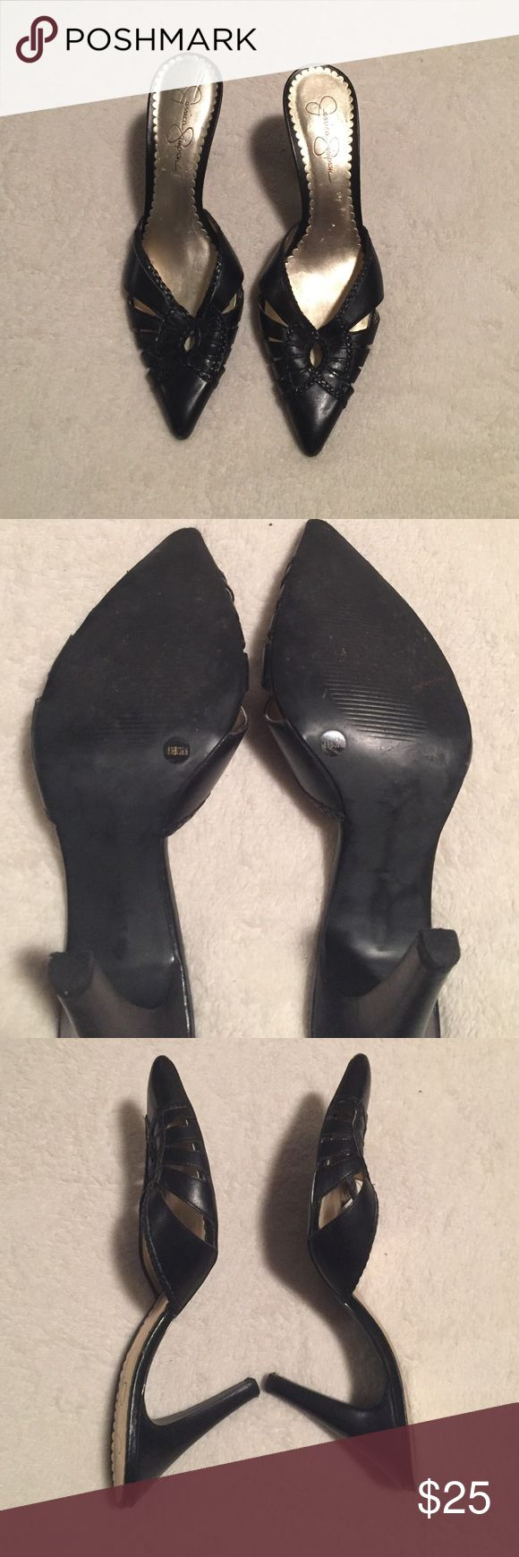 4 inch black Jessica Simpson heels 4 inch black Jessica Simpson heels Jessica Simpson Shoes Heels