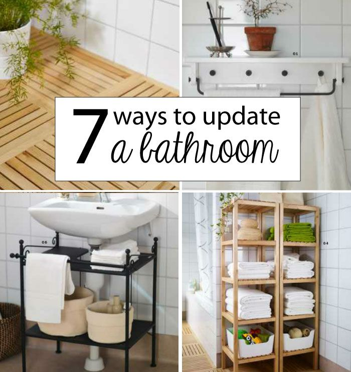 Great ideas for the small houses 7 ways to update a for Small bathroom upgrade ideas