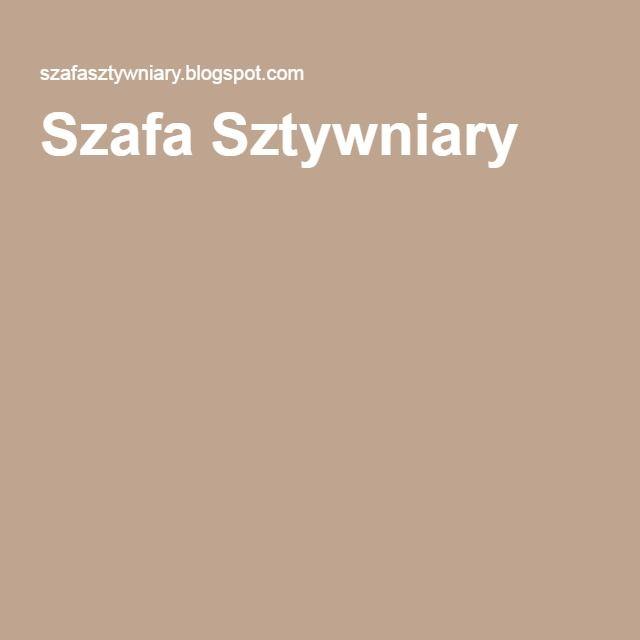 Szafa Sztywniary