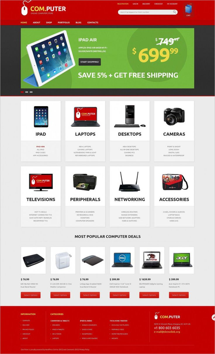 Responsive online computer stores can cost you a fortune unless you are downloading one of our free Jigoshop template designs. These Responsive Jigoshop Themes for Computer Store are new, HTML5 coded and Search Engine Optimized.