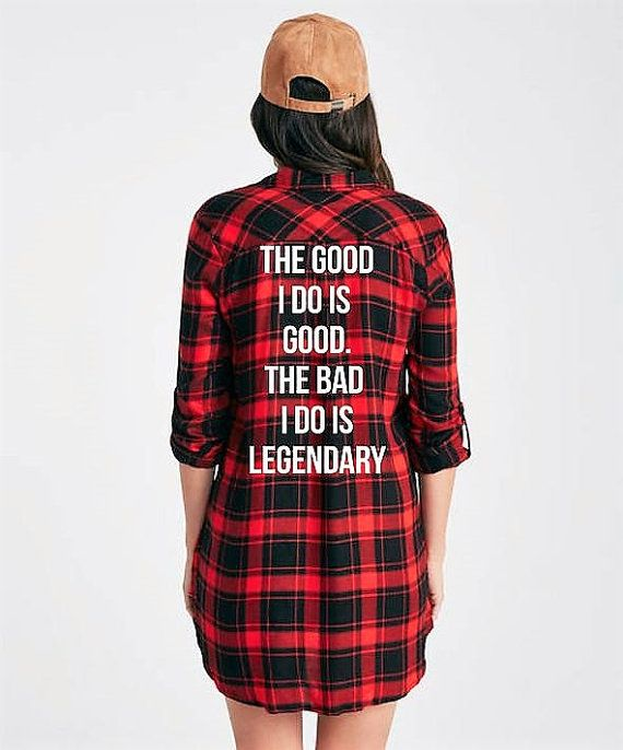 Modern Legend Flannel Shirt Dress Fall Style