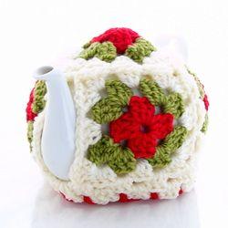 Free Tea Cozy Crochet Pattern Granny Square Chunky Bulks Yarn American Terms