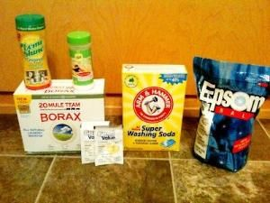 Less than 20 bucks for a year (possible longer) supply of dishwasher detergent AND it works great AND it's easy to make. I'll try it! by ^ kristen ^