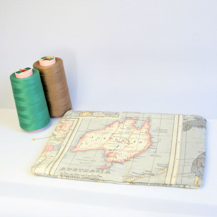 World map pencil case, Australia, Brown and grey world map make up bag, atlas pouch, pencil case, crochet bag, make up organiser by JoorCreates on Etsy