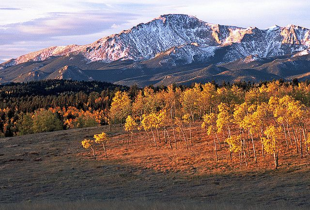 Pikes Peak and Aspens: West of Woodland Park, Colorado (CO) by Floyd Muad'Dib