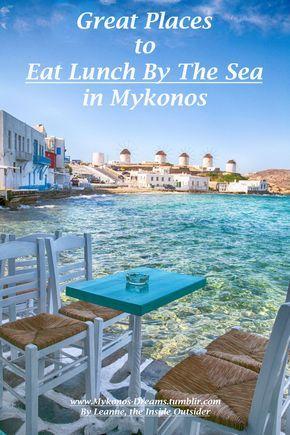Places To Eat In Mykonos with a Sea View. #Mykonos #Mykonos Restaurants #Greek… More