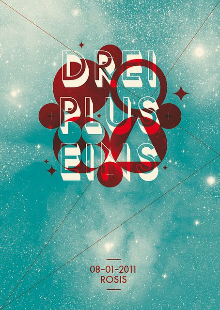 Drei Plus Eins #poster #design