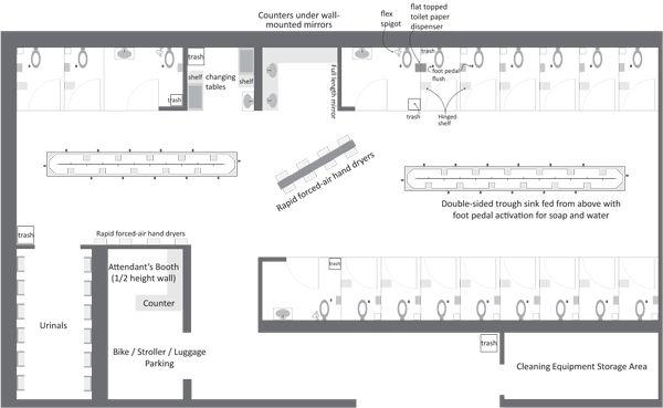 1000 images about public washroom on pinterest toilets for Public restroom design plans